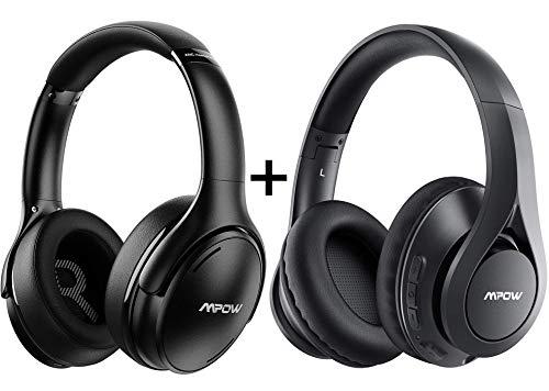 Mpow H19 IPO Active Noise Cancelling Headphones Black + Mpow 059 Lite Bluetooth Headphones Black