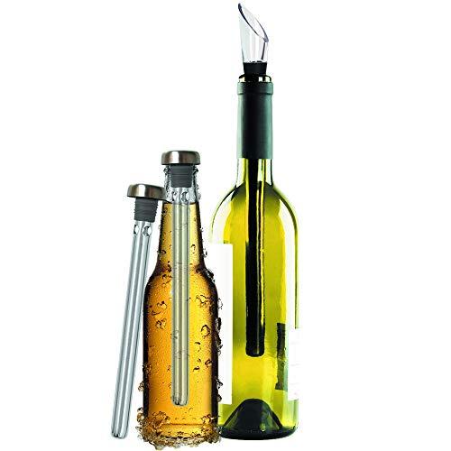 Original Regalo Enfriador de Vino y Cerveza Set de 2 -