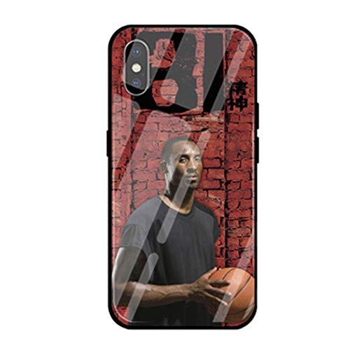 Funda para iPhone X, XS, XR, XS MAX de vidrio templado, diseño de estrella de baloncesto Kobe Bryant, funda de teléfono de protección completa para fanáticos, regalos Kobe G-for XS