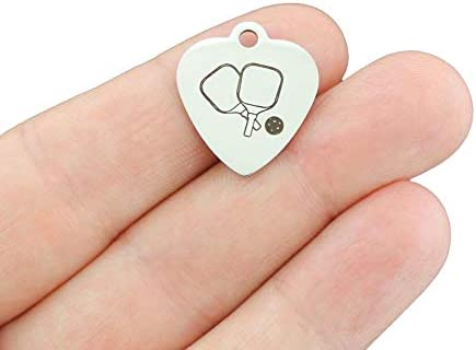 Pickleball Stainless Steel Charms - famous Exclusive Op Line outlet Quantity