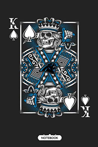 Carolina Panthers Spade King Of Death Card NFL Football Notebook NFL Notebook Weekly Planner Lined Notebook Journal.