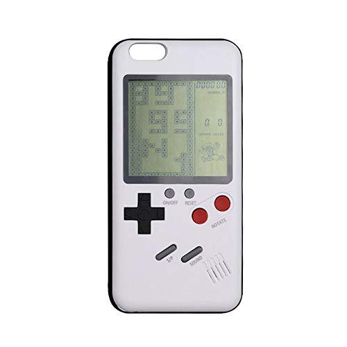 BQQ iPhone 6/6s Hülle, Gameboy Handheld Game Player mit Retro Tetris Games System für iPhone 7/8 Plus (2 Teile),Weiß,iphone6/6s