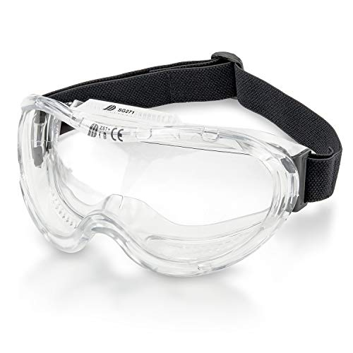 Neiko 53875B Protective Safety Goggles Eyewear with Wide-Vision, ANSI Z87.1 Approved | Adjustable & Lightweight