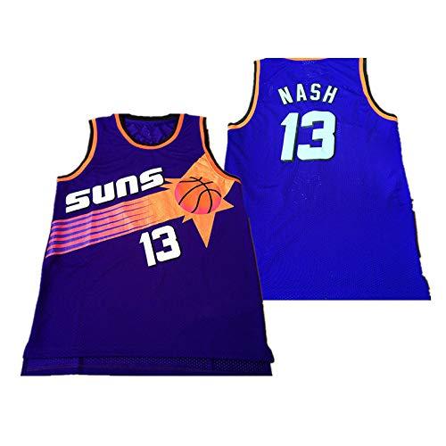 NIUPUPU NBA Hombres Camiseta de Baloncesto Stephen John Nash 13 Charles Barkley 34 Camiseta sin Mangas Camiseta Deportiva Fitness Retro Camiseta atlética S-XXL