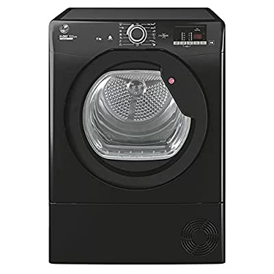 Hoover HLEC9DGB H-Dry 300 9kg Condenser Tumble Dryer, Black, Sensor dry, NFC