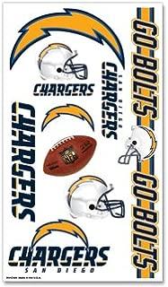 San Diego Chargers NFL Football Team Temporary Tattoos