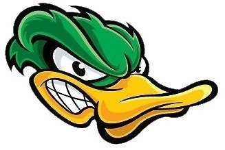 MFX Design Angry Duck Sticker Decal Vinyl - Made in USA 3.5 in. x 2 in.