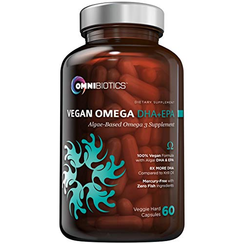 Vegan Omega DHA+EPA | MD-Certified Prenatal DHA with EPA | 8X More DHA Than Krill Oil! Fish-Free Omega Essential Fatty Acids - Algal Omega-3, Omega-6, DHA, EPA