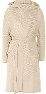 Cream/Ivory Waffle Hooded Style Bathrobe 100% Cotton Honeycomb Weave Free Matching Slippers, Unisex, 4 Sizes (x Large)