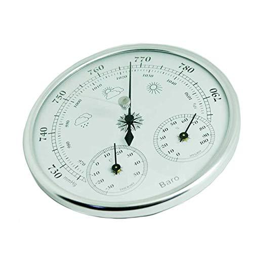 SYN Barometro 3 in 1 ad Alta precisione da Appendere alla Parete Tester Vintage Multifunzionale manometro igrometro Domestico Strumento termometro
