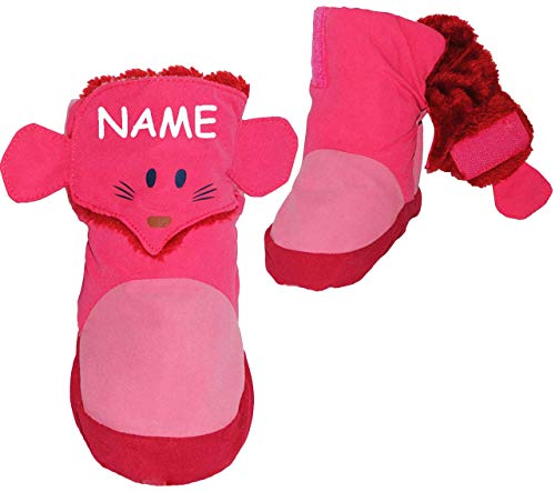 alles-meine.de GmbH alles-meine.de GmbH Thermo - Überziehschuhe / Lauflernschuhe - Maus - rosa & pink - incl. Name - Größe: 1,5 Jahre bis 2,5 Jahre / Gr. 23 - 24 - Fleece gefüttert - mit langem ..