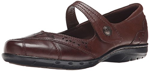 Rockport Cobb Hill Women's Petra Mary Jane Flat, Brown, 9 M US