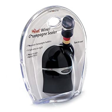 Rabbit Champagne and Wine Sealer (Velvet Black)