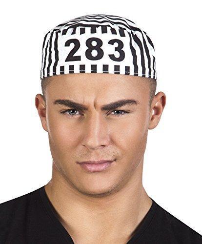 erdbeerclown- Kostüm Accessoire Strafgefangener- Insassen Erwachsenen Kopfbedeckung, Mehrfarbig