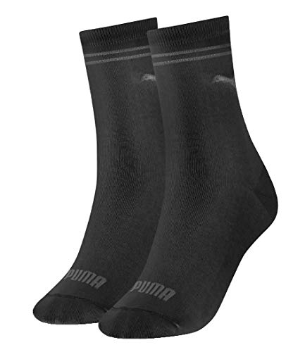 PUMA Womens Women's (2 Pack) Socks, Black, 39/42