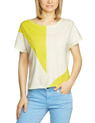 Tigerhill Damen T-Shirt Comfort Fit, gepunktet B-0071-C136 / Betsy, Gr. 32/34 (XS), Mehrfarbig (Ivory 0112)