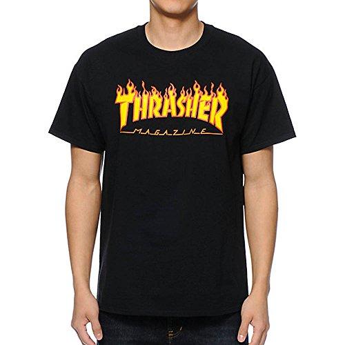 Thrasher Flame Black T-Shirt Größe: XL