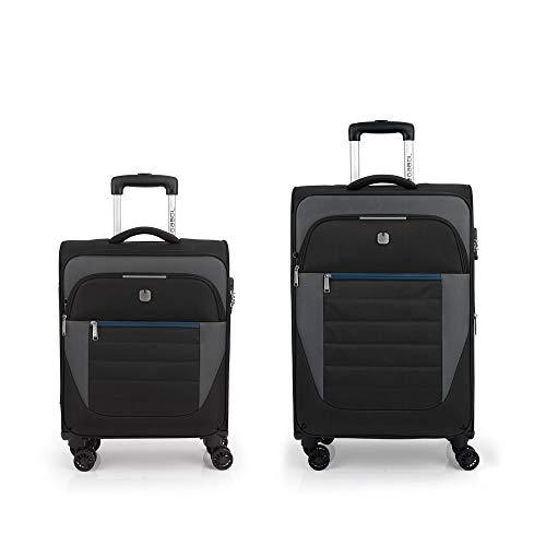 Gabol – Set of 2 Suitcases C22-M Gabol Sky Black