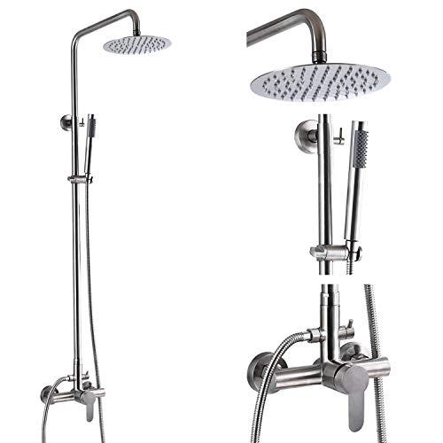 Outdoor Shower Faucet SUS304 Shower Fixture Combo Set Stainless Steel...