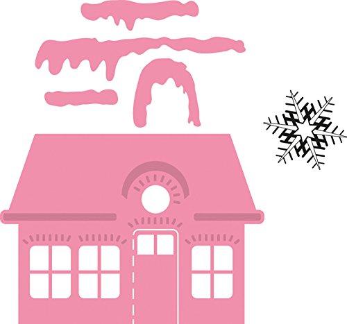 Marianne Design Collectables Weihnachtliches Dorf, niedrig - Stempel und Stanzschablone für die Kartengestaltung und Scrapbooking, Metal, pink, 7.7 x 5.5 x 0.4 cm