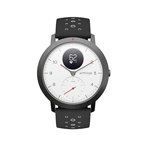 Withings Steel HR Sport - Multisport Hybrid Smartwatch, Connected GPS, Herzfrequenz, Fitnessniveau via VO2max, Aktivitäts- und Schlaftracking, Benachrichtigungen