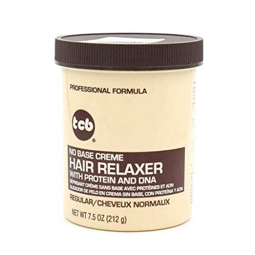 TCB Hair Relaxer with Protein and DNA Regular 212GR, Negro, Estandar
