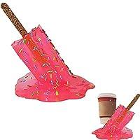 溶けるアイスキャンデーの彫刻、創造的な溶けるアイスクリーム樹脂の装飾品、サマービーチのクールな彫像の家の装飾アイスキャンデーの装飾品の存在 (赤)