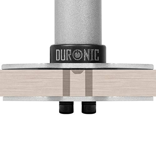 Duronic DM-GR-01 SR Grommet Argento per Supporti Monitor Modello DM351X3 SR e DM352 SR – Attraverso Fori sulla scrivania – Alternativa al Morsetto