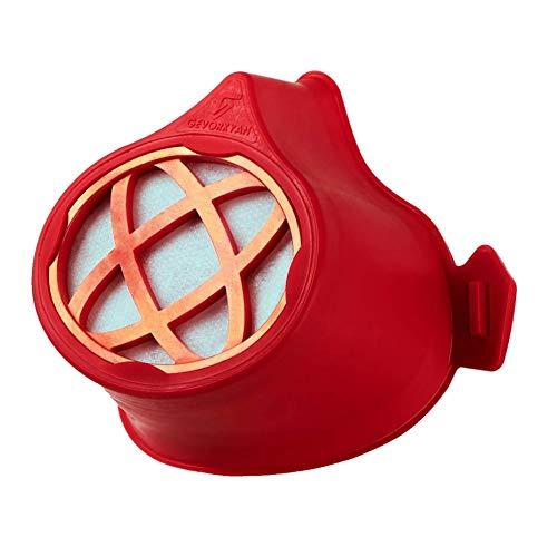 Gevorkyan Zertifizierte Wiederverwendbare Maske mit unbegrenzter Lebensdauer, Smart Comfort S - Rot, 30 Stück Austauschbare Filter