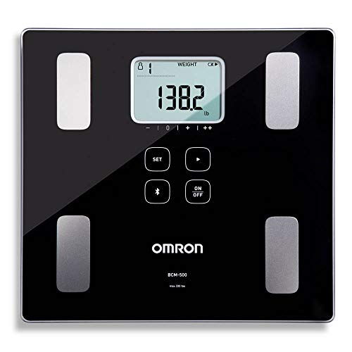 Omron Body Composition Monitor and Scale with Bluetooth Connectivity – 6 Body Metrics & Unlimited Reading Storage with Smartphone App by Omron, Black