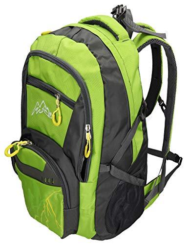 BETZ Mochila Unisex para Viaje Senderismo Camping MÜNCHEN con 4 Bolsillos Volumen 37 litros Color Verde