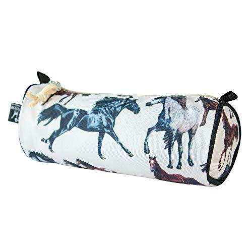 Wildkin Kids Zippered Pencil Case for Boys and Girls, Perfect for Packing School Supplies and Travel Essentials, 600-Denier Polyester Pencil Cases Measures 8 x 3 x 3 Inches, BPA-free (Horse Dreams)