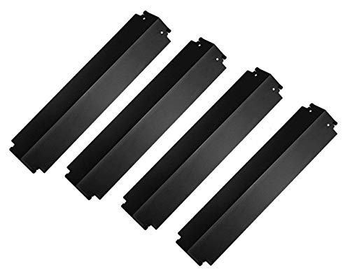 Bigbox Heat Shields Heat Plates for Charbroil Grill Replacement Parts, 16 inch Porcelain Steel Heat Tents Burner Covers Flame Tamers for Charbroil, Kenmore, Thermos Grill (4-Pack)