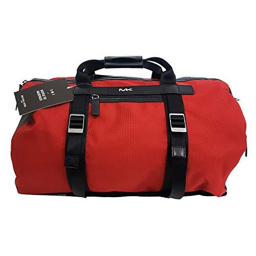 Michael Kors Kent Sport Jet Set Travel Conv. 2 IN 1 Duffle To Backpack Crimson