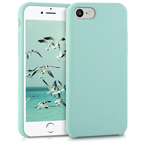 kwmobile Funda Compatible con Apple iPhone 7/8 / SE (2020) - Funda Carcasa de TPU para móvil - Cover Trasero en Menta