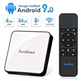 Leelbox TV Box Android 9.0【4GB+64GB】 KM3 Boîtier TV 2.4GHz Support BT 4.1/WiFi/3D/4K/H.265 [2019 Dernière Version]