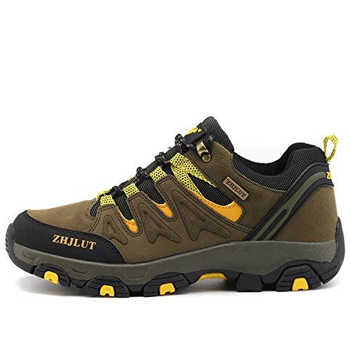 BOTEMAN Herren Damen Wanderschuhe Trekking Schuhe Outdoor Anti-Rutsch Wanderstiefel atmungsaktiv Wandern Hiking Sneaker,Grün,42 EU