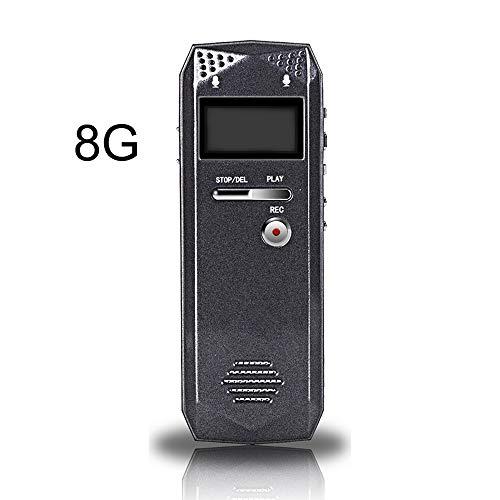 ILYO Grabadora De Voz Digital del Registrador Activado, Grabadora Digital De 8 GB HD con Micrófono Altavoz Cinta Mini Reproductor Portátil De MP3 Recorder