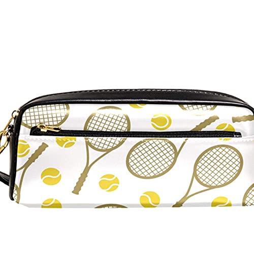 Estuche para lápices Marcador Bolígrafo Bolsa Organizador de escritorio Raqueta de tenis sin fisuras Bolsa de almacenamiento