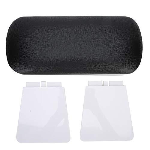 TKSE Mesa de uñas, reposabrazos de uñas, cojín de reposabrazos de manicura para decoración de uñas para salón de manicura con reposabrazos(Negro)
