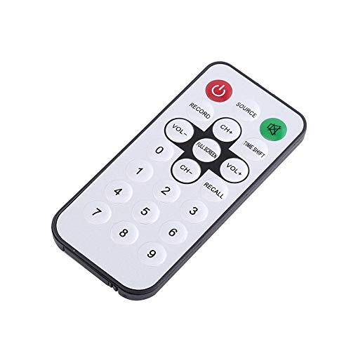 Socobeta Receptor de TV portátil DVB-T Digital sintonizador HDTV de alta sensibilidad con control remoto