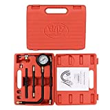B4B BANG 4 BUCK Y113 10 Pieces 0-100 Psi Fuel Pressure Tester Kit, 0-7 Bar Engine Diagnostic Oil Gauge Set with Storage Case for Car Motorcycle Truck RV SUV & ATV