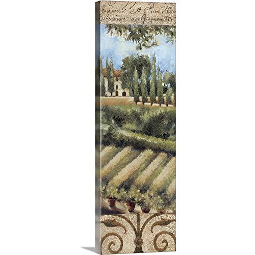 """Tuscany Villa I Canvas Wall Art Print, 12""""x36""""x1.25"""""""