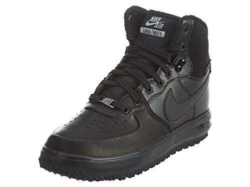 Nike Nike Jungen Lunar Force 1 Sneakerboot GS Basketballschuhe, Schwarz Silber schwarzMetallic Silber, 36 EU