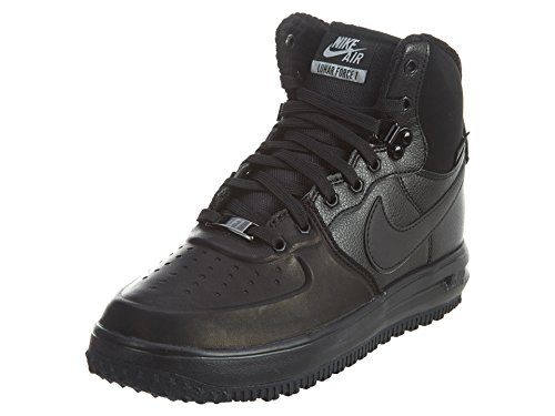 Nike Lunar Force 1 Sneaker Boots (Kids), Black, Size 4