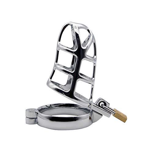 Roluck Keuschheitsgürtel für Männer Metall Chastity Cage Peniskäfig mit Schloss Bondage Fetisch Sexspielzeug (4cm)