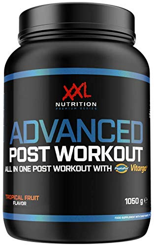 XXL Nutrition Advanced Post Workout | Komplette Formel mit Vitargo Peptopro uvm | Ice Tea Peach 1050g