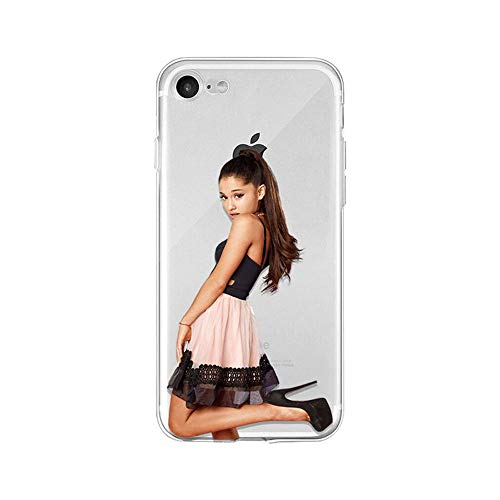 LXXTK Ariana Grande Ultra Slim Transparent Shockproof TPU Soft Silicone Cover iPhone Case A14 for Cover iPhone 5 5S SE