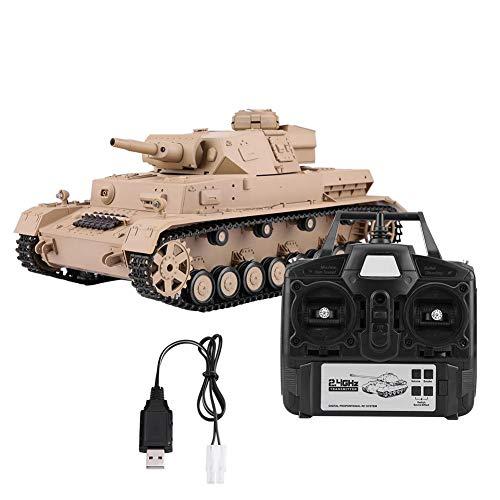 Dilwe Carro Armato RC Heng Long 3898-1 1//16 2,4 GHz Sherman M4A3 Carro Armato telecomandato Giocattolo con torretta Rotante da 320 Gradi