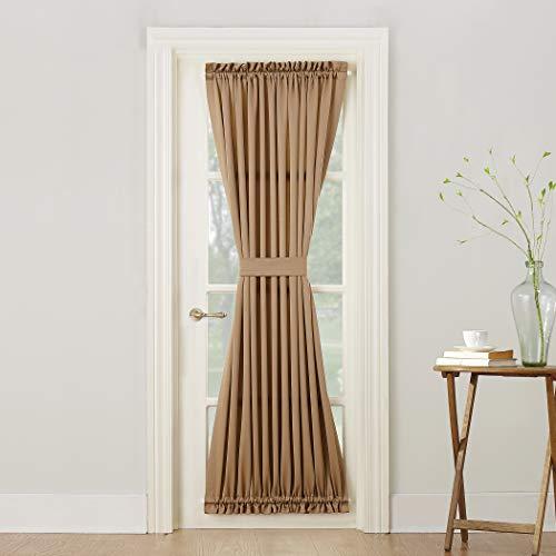 Sun Zero Barrow Energy Efficient Door Panel Curtain With Tie Back